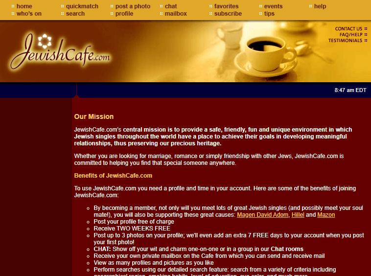 jewishcafe benefits